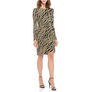 Michael Kors Diagonal Wavy Chain Print Dress